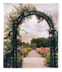 The Rose Allee Fleece Blanket