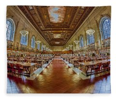 The Rose Main Reading Room Nypl Fleece Blanket