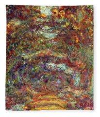 The Rose Path Giverny Fleece Blanket