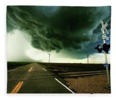 The Rough Road Ahead Fleece Blanket