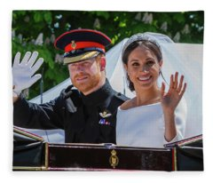 The Royal Wedding Of Prince Harry  To Meghan  Fleece Blanket