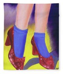 The Ruby Slippers Fleece Blanket
