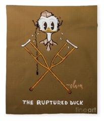 The Ruptured Duck Fleece Blanket