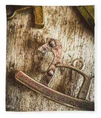The Rusted Toy Horse Fleece Blanket