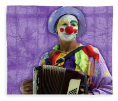 The Sad Clown Fleece Blanket