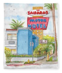 The Saharan Motor Motel In Hollywood, California Fleece Blanket