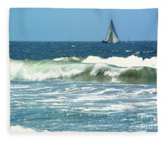 The Sailboat Fleece Blanket