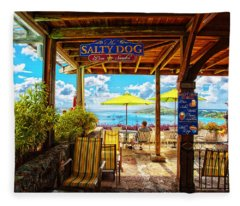 The Salty Dog Cafe St. Thomas Fleece Blanket