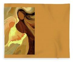 The Saviour Is Born Fleece Blanket
