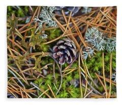 The Scent Of Pine Forest Fleece Blanket