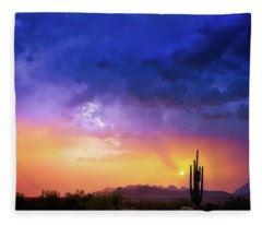 Fleece Blanket featuring the photograph The Scent Of Rain by Rick Furmanek