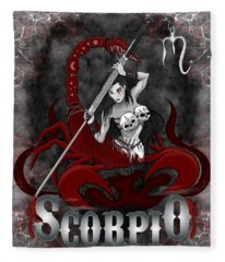 The Scorpion Scorpio Spirit Fleece Blanket