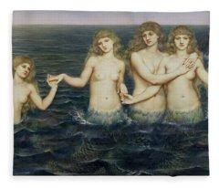 The Sea Maidens Fleece Blanket