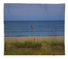 The Sea Shore Line Fleece Blanket