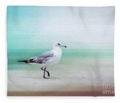 The Seagull Strut Fleece Blanket