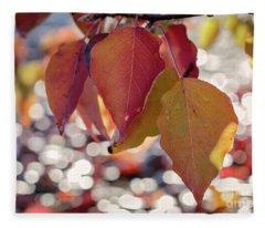 The Season Of The Fall Begins Fleece Blanket