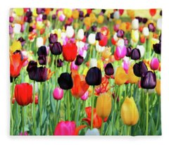 The Season Of Tulips Fleece Blanket