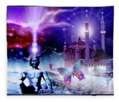 The Serenity Of Wisdom... Fleece Blanket