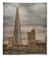 London, England - The Shard Fleece Blanket