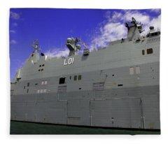 The Ship Is Huge Fleece Blanket