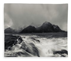 The Shore Of Winter Fleece Blanket