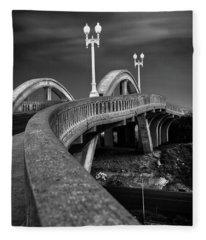 The Sierra Vista Bridge Of Roseville Fleece Blanket