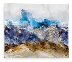 The Sierras Fleece Blanket