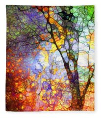 The Simple Tree Fleece Blanket