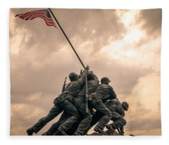 The Skies Over Iwo Jima Fleece Blanket
