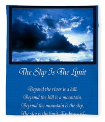 The Sky Is The Limit Fleece Blanket