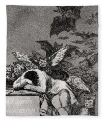 The Sleep Of Reason Produces Monsters Fleece Blanket