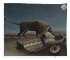 The Sleeping Gypsy, 1897 Fleece Blanket