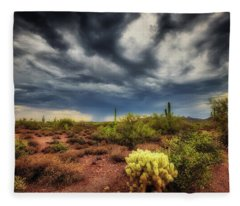 Fleece Blanket featuring the photograph The Smell Of Rain by Rick Furmanek