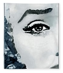 The Sorrow Of Marilyn  Fleece Blanket