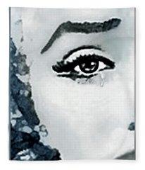 The Sorrow Of Marilyn  Fleece Blanket