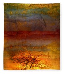 The Soul Dances Like A Tree In The Wind Fleece Blanket