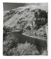 South Fork Boise River 3 Fleece Blanket