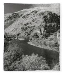 South Fork Boise River 3 Fleece Blanket
