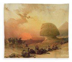 The Sphinx At Giza Fleece Blanket