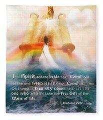 The Spirit And The Bride Fleece Blanket