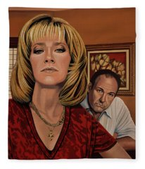 The Sopranos Painting Fleece Blanket