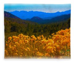 The Spring Mountains Fleece Blanket