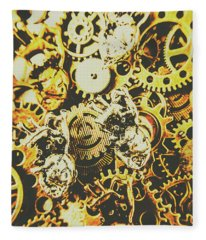 The Steampunk Heart Design Fleece Blanket