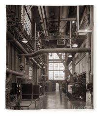 The Stegmaier Brewery Boiler Room Wilkes Barre Pennsylvania 1930's Fleece Blanket