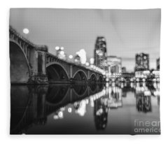 The Central Avenue Bridge Fleece Blanket