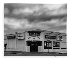 The Stone Pony Asbury Park New Jersey Black And White Fleece Blanket