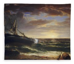 The Stranded Ship Fleece Blanket