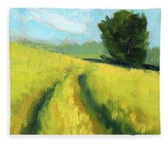 The Summer Field Fleece Blanket