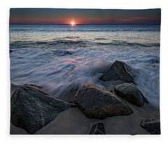 The Sun And The Tide Fleece Blanket