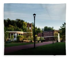 The Sun Rises On Western Carolina University Fleece Blanket